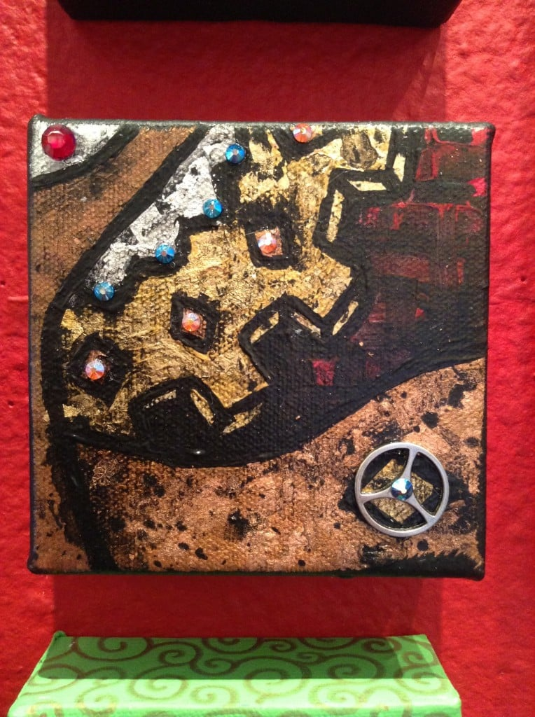 4x4 Gears ... 4 to choose from ... Gold Leaf, Swarovski Crystals and Acrylic paint. Are you kidding me?? Only $25