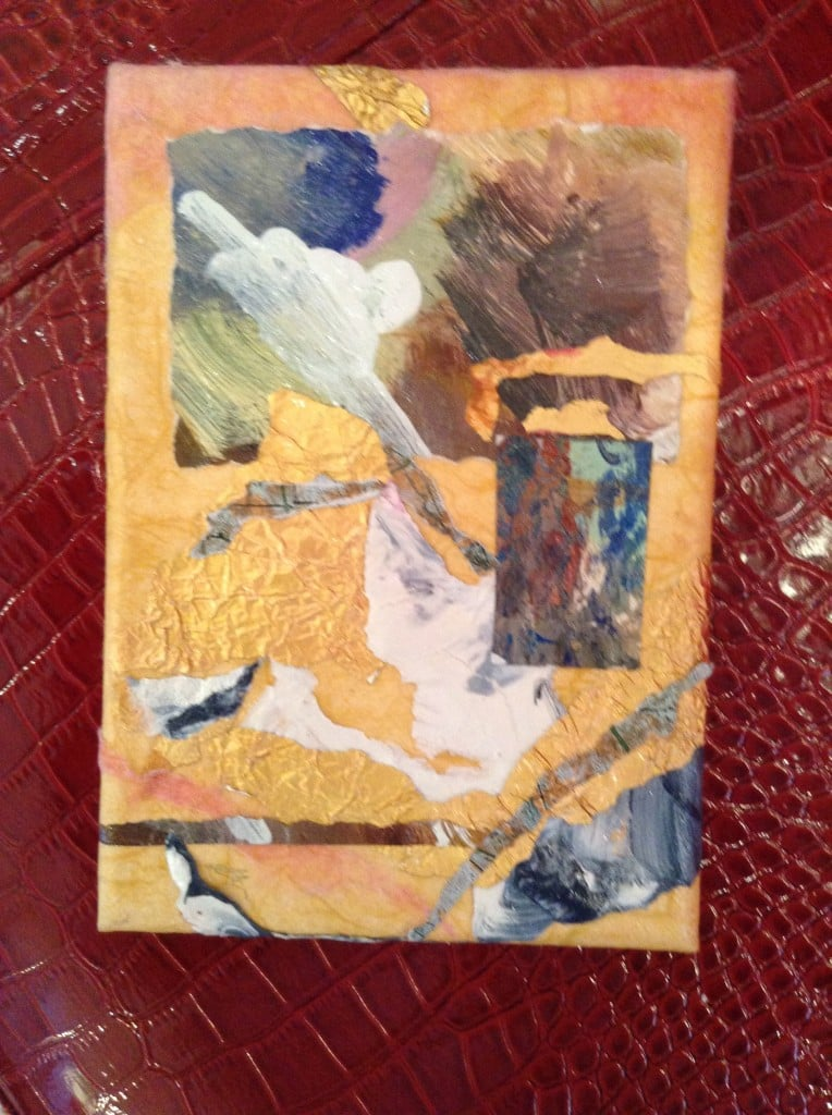 5x7 Collage on Canvas ... original art by local artist Olga Gault ... specially priced for Jana's RedRoom only $40