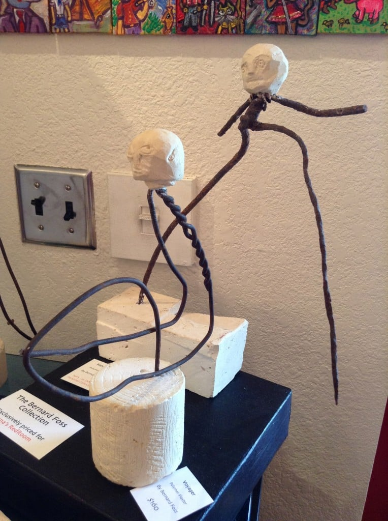 Voyager and Roped Devil - polymer plaster by Bernard Foss