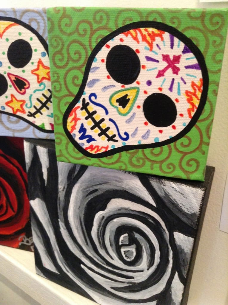 THERE BACK! Theresa Lucero Sugar Skulls. FYI these do not hang around her long, come get yours before they are gone!