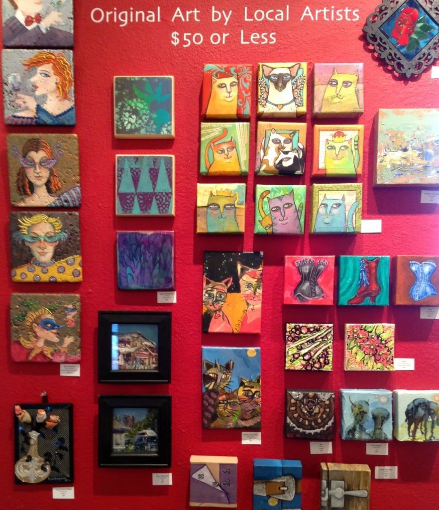 I love the original art by local artists $50 or less wall ... perfect for gift giving!