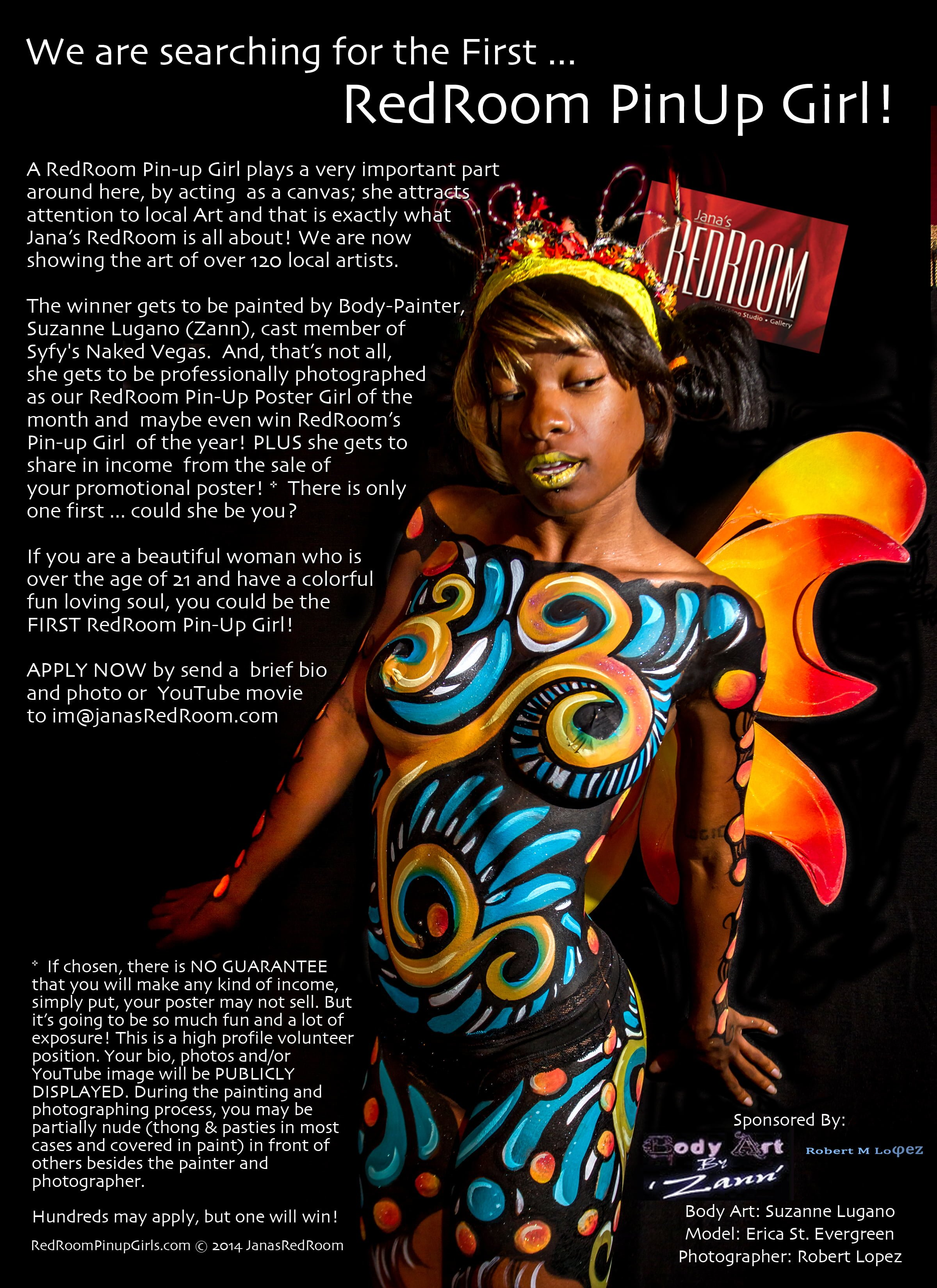 Wanna be body painted? Apply TODAY!!