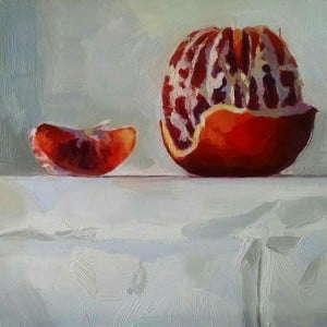 Blood Orange with Slice